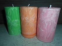 Svietidlá a sviečky - sada sviečok / jarné - 4962820_