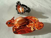 Veverička so srdiečkom -set šperkov-achát-tiffany