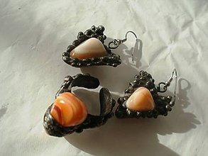 Sady šperkov - Set šperkov-achát farebný-tiffany - 4966605_