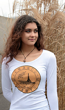 Tričká - Tričko s Eiffelovkou - La France - 4965811_