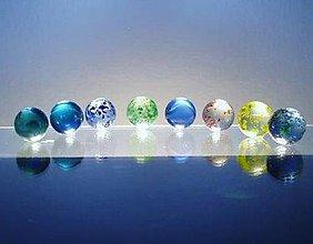Hračky - skleněné kuličky cena za 10 ks - 4967681_