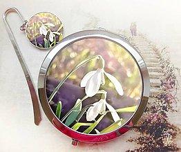 Zrkadielka - sada Volání jara - záložka, zrcátko - 4968113_