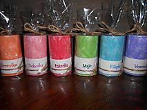 sviečka s menom / rôzne farby