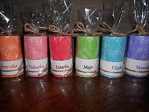 Svietidlá a sviečky - sviečka s menom / rôzne farby - 4967578_
