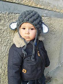 Detské čiapky - Baranček... - 4967435_