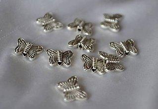Korálky - Kovová korálka motýľ, 0.17€/ks - 4965459_