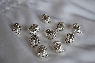Korálky - Kovová korálka budha, 9x11mm, 0.35€/ks - 4965483_
