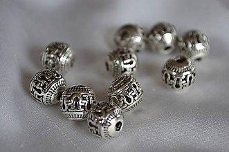 Korálky - Korálka kovová, 8mm, 0.36€/ks - 4965527_