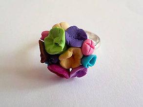 Prstene - AKCIA! kytica kvietkov na prste - 4968272_