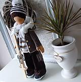 Bábiky - Chlapec v hnedom kabátiku - 4972395_