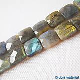 Minerály - labradorit, štvorce, 12 x 12 mm - 4970343_