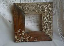Rámiky - Drevo a kameň/rám 10x10cm - 4971425_