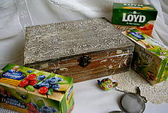Krabičky - Drevo a kameň/krabička na čaje - 4971524_