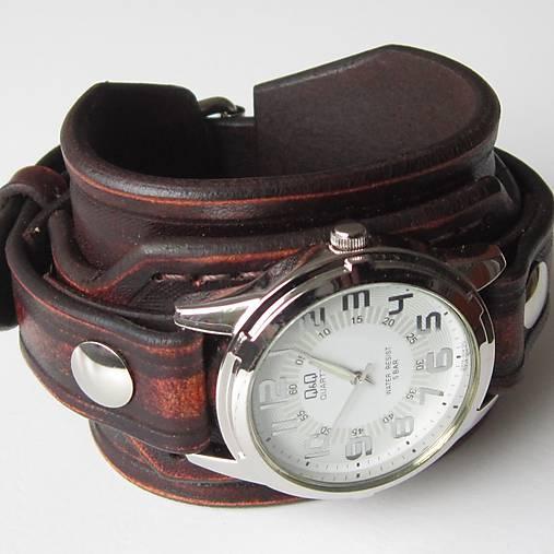 0964a509b Pánske hodinky na koženom náramku - hnedé / leon - SAShE.sk ...