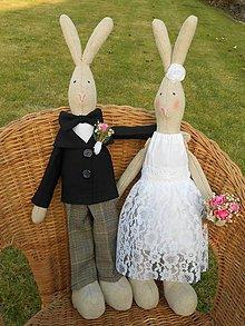Darčeky pre svadobčanov - Svadobný párik, 50 cm - 4969543_
