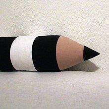 Úžitkový textil - Čierno-biela ceruzka s menom na objednávku - 4972000_