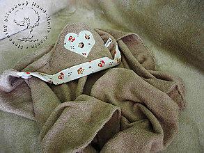 Textil - Bambusové Kapucíno – Detská osuška s kapucňou - 4972575_