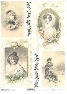 Papier - Ryžový papier Portréty 2 607 - 4969181_