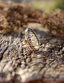 Prstene - strieborný prsteň s achátom (Tisíc stromčekov) - 4969402_