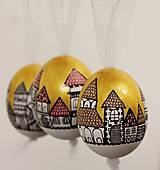 Dekorácie - Slepačie vajíčko /zlatá ulička - 4968805_