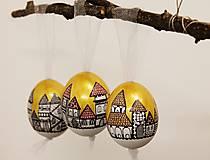 Dekorácie - Slepačie vajíčko /zlatá ulička - 4968811_