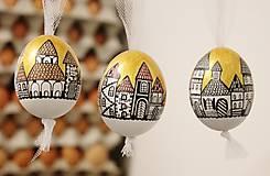 Dekorácie - Slepačie vajíčko /zlatá ulička - 4968812_