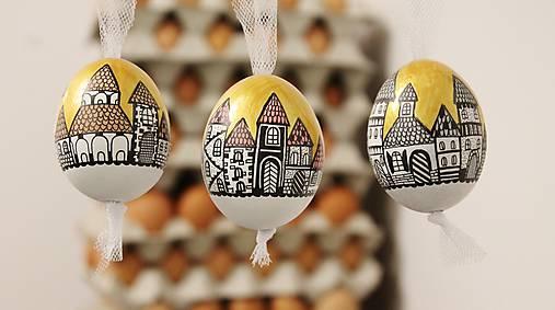 Dekorácie - Slepačie vajíčko /zlatá ulička  - 4968807_