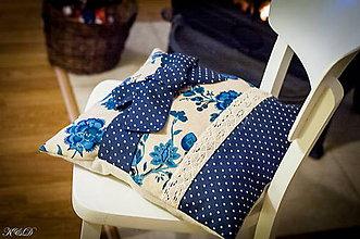 """Úžitkový textil - Vankúšik """"Blue Romantic"""" - 4975508_"""