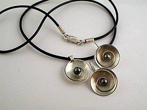 Sady šperkov - Čierna perla  - hypnózis -- ag 925 - 4974894_