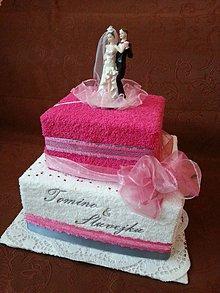 Dekorácie - uteráková torta - svadobná - 4976592_