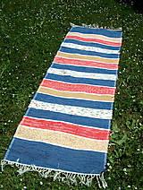 tkaný koberec modrý tradičný 70 x 220 cm