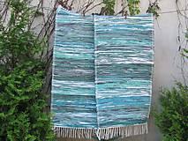 tkaný koberec - zeleno tyrkysový 70 x 150 cm