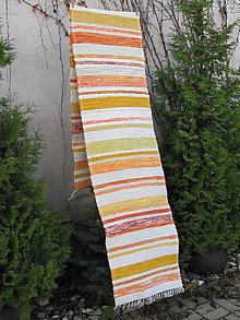 Úžitkový textil - tkaný koberec oranžový 70 x 350 cm - 4976992_