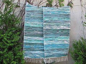 Úžitkový textil - tkaný koberec - zeleno tyrkysový 70 x 150 cm - 4977013_