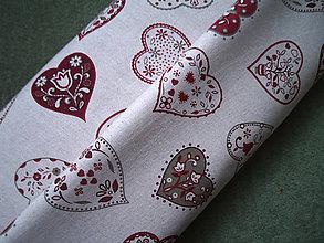 Textil - Dekoračná látka - veľké srdiečka - 4975070_