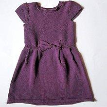 Detské oblečenie - Fialové šatôčky s mašličkou II - 4976949_