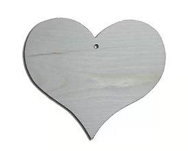 Polotovary - Drevené srdce vykrojené väčšie - 4975028_