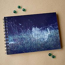 Papiernictvo - Zápisník malý - Svet zmotaný z pavučiniek - 4974944_