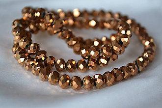 Korálky - Korálky brúsené sklenené hnedé, 0.50€/10ks - 4973115_