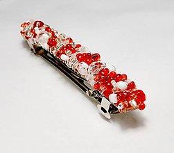 Ozdoby do vlasov - Red & Crystals - 4978825_