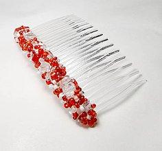 Ozdoby do vlasov - Red & Crystals - 4978840_