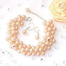 Sady šperkov - Perličková súprava, marhuľová - 4979698_
