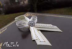 - svadobné pierko maslová & bielozlatá - 4978023_