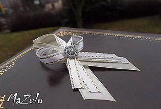 Pierka - svadobné pierko maslová & bielozlatá - 4978023_