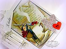 Papiernictvo - Drahá, každý deň ti uvarím nápoj lásky... - 4981175_
