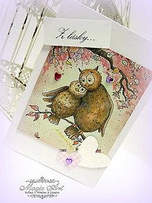 Papiernictvo - Zaľúbené sovičky - 4981154_