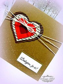 Papiernictvo - Srdce láskou zviazané... - 4981183_