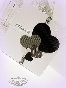 Papiernictvo - Bielo čierna romantika - 4981186_