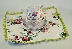 Úžitkový textil - Mini obrus starodávne ruže - 4979921_