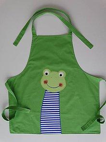 Iné oblečenie - Detská zásterka s žabkou - 4983578_